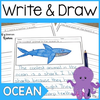 Primary Ocean and Beach Writing Prompts