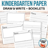 Primary Write & Draw Templates & Booklets, Large Lined Paper Kindergarten