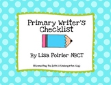 Primary Writer Checklist