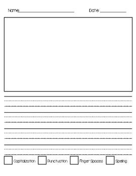 Primary Writer's Workshop Paper with Checklist