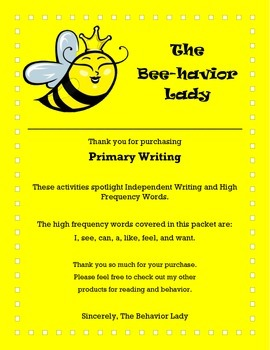 Primary Writing Activities/Stations
