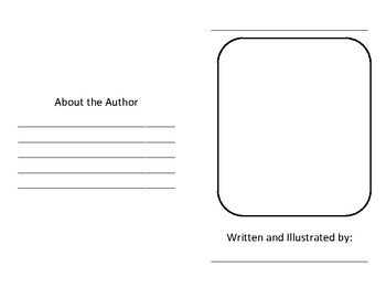 Writing A Book Template | Elementary Writing Book Template