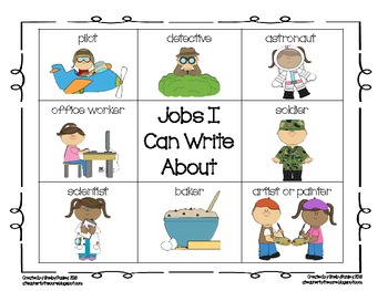 Primary Writing Idea Cards