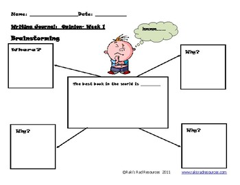 Primary Writing Journal: Opinion Writing