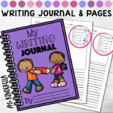Primary Writing Journal and Pages (Blank Templates + 3 Writing Checklist Styles)