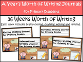 Primary Writing Journals - A Year Long Bundle of Writing for Specific Genres
