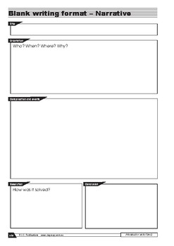 Primary Writing: Narratives – Year 4