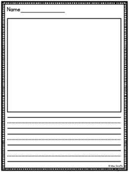 Primary Writing Pages (Writing Paper with Primary Lines)