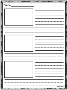 Primary Writing Paper with picture boxes and without (multiple levels)