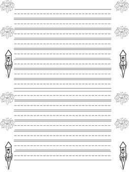 Primary Writing Paper- 12 months of year