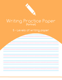 Primary Writing Paper 5 Levels  - Portrait