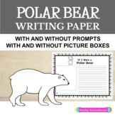 Primary Writing Paper: Polar Bear Paper & Prompts- With & Without Drawing Boxes