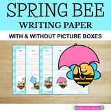 Primary Writing Paper: Spring Bee - With Picture Boxes