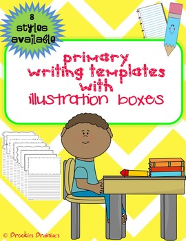 Primary Writing Paper Templates with Illustration Boxes