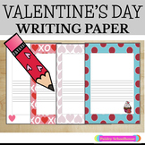 Primary Writing Paper: Valentine's Day
