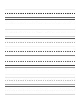 primary writing paper vertical with illustration box and lines