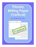 Primary Writing Paper-Vertical with Illustration Box and lines