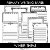 Primary Writing Paper: Winter Theme, (With/Without Picture Boxes)