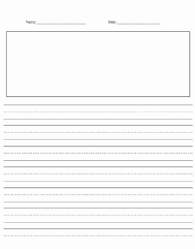 Primary Writing Paper With Room For Illustrations