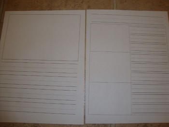 Primary Writing Paper and Graphic Organizer