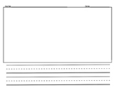 Primary Writing Paper (large drawing box) Template