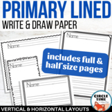 Primary Writing Paper with Picture Boxes, Landscape, Vertical, Full & Half Page