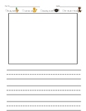 Primary Writing Paper with Editing Checklist-Big Lines
