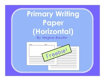 Primary Writing Paper with Illustration Box and Lines