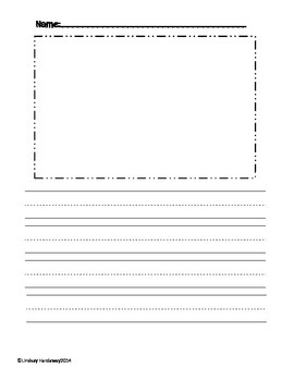 Primary Writing Paper with Picture Box