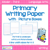 Primary Writing Paper with Picture Boxes