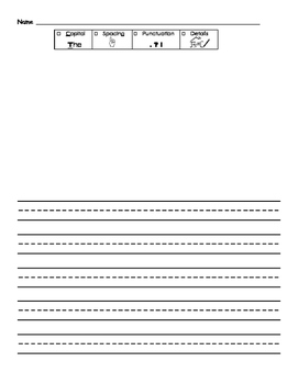 Primary Writing Paper with Rubric