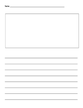Primary Writing Paper with a room for illustration