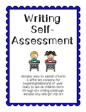 Primary Writing Self-Assessment Checklist
