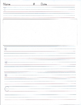 Primary Writing Template #3