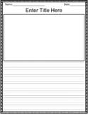 Primary Writing Template Editable (Distance Learning)