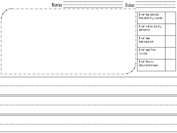 Primary Writing Template (with Rubric!)
