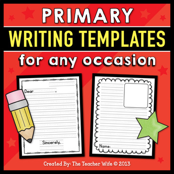 Primary Writing Templates for Any Occasion