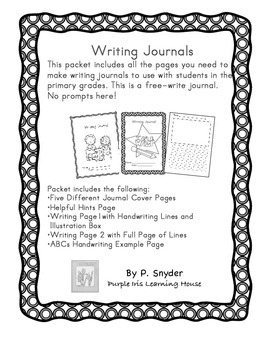 Primary Writing Journal