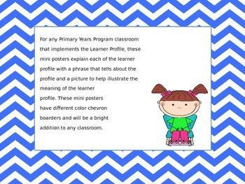 Primary Years Program Learner Profile Mini Poster Set