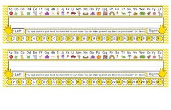 Primary Yellow Chevron Desk Reference Nameplates