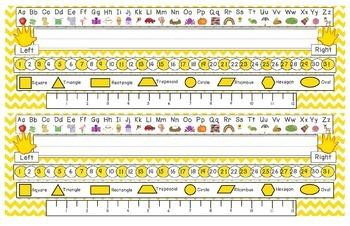 Primary Yellow Chevron Desk Reference Nameplates Version 2