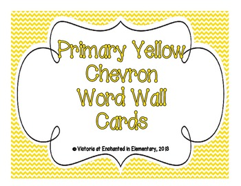 Primary Yellow Chevron Word Wall Cards