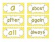 Primary Yellow Polka Dot Word Wall Cards