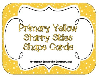 Primary Yellow Starry Skies Shape Cards