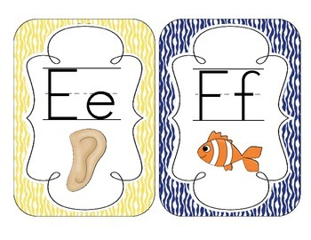 Primary Zebra Print Alphabet Cards