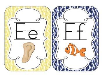 Primary Zebra Print Alphabet Cards