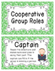 Primary Zebra Print Cooperative Group Roles- Posters and S
