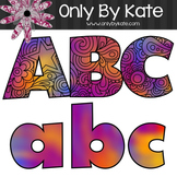 Bulletin Board Letters, Primary Zentangle, Print Your Own