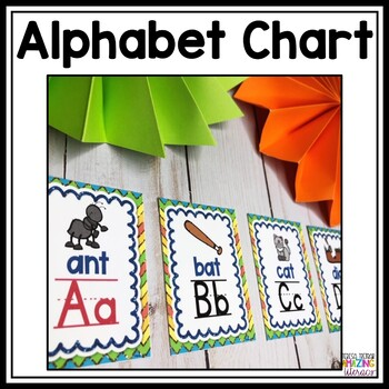 Primary alphabet posters and flashcards