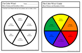 Primary and Secondary Color Wheel